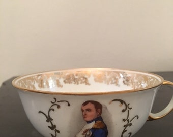Vintage Limoges Teacup with picture of Napoleon
