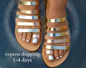 IONIA 2 sandals/ ancient Greek leather sandals/ strappy sandals/ roman sandals/ toe ring sandals/ classic leather sandals/ gold sandals