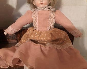 Vintage 1960's Bisque and Cloth Doll!