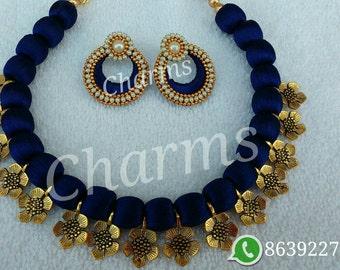 Complete Silk Thread Jewelry Set
