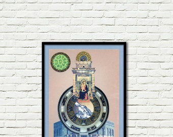 Lifespace-Collage-Pop Art-surreal (paper, vintage clippings, glue)
