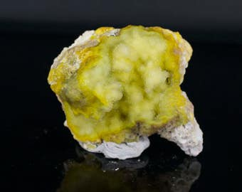 Yellow Chalcedony Druse Mineral Specimen