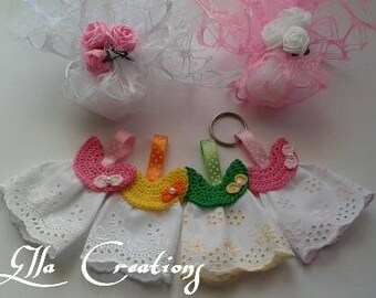 Lace birth sachets favors san gallo