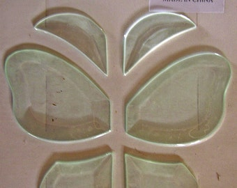 Bevel cluster C-23 butterfly clear 6 pieces stained glass