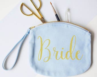 Bride, Make Up, Canvas pouch, Clutch Bag