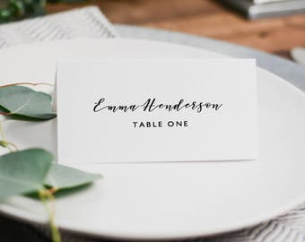 Wedding Place Cards Template, Editable Place Cards, DIY Wedding Place Cards, Editable Wedding Escort Cards, Instant Download - KPC01_204