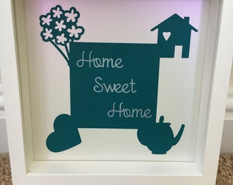 Home sweet home boxed frame