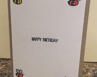 Handmade cards - happy birthday bees