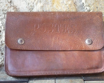 small French postal satchel