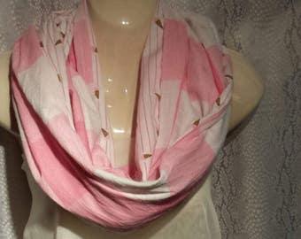Strawberry ice cream cone scarf