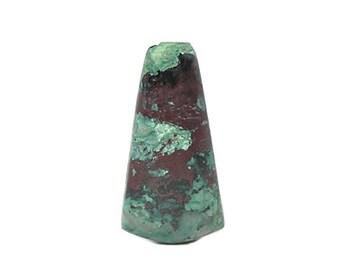 Chrysocolla Blue Green with Metallic Red Cuprite Gem Silica Cabochon, Copper Natural Mineral Jewel Semi-precious Loose Gemstone