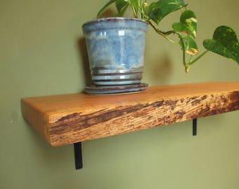 naturaledge quarter sawn oak shelfwall mount shelflive edge shelf - Wall Mount Shelf