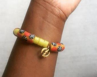 West African Beaded Bracelet