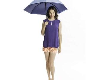 PARASUN All-Weather UV Sun Umbrella in Blue/Navy