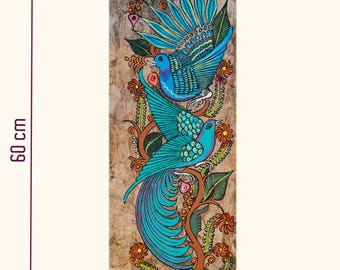 Table of birds on Amate paper / Pintura aves in papel amate