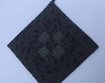 Black 9 patch potholder