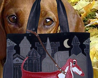 "leather bag ""Red Dachshund"""