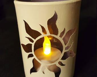 Tangled-Inspired Candleholder - White/Purple