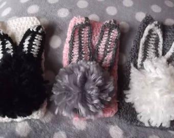Bunny Rabbit Crochet Phone Case