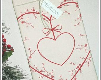 Red Heart Organic Cotton Tea Towel