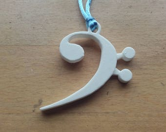 3D printed Bass Clef necklace