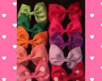 Bow tie hair bows