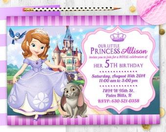 Tarjeta de cumpleaños de la invitación de la Princesa Sofía