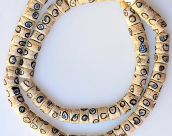 24 Inch Strand of Matched Venetian Eye Beads - Vintage African Trade Beads - F324