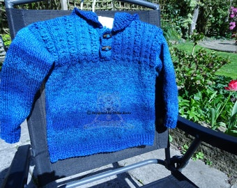 Boys Sweater, Boys Hooded Sweater, Boys Knitted Sweater, Boys Knitted Hoodie, Blue Boys Hooded Top, Boys Blue Hoodie, Boys Blue Knitted Top