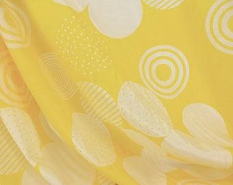Yellow Circle Print Fabric