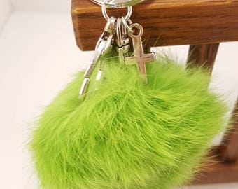 Fidgets fuzzy key chain. Three colors to choose from.