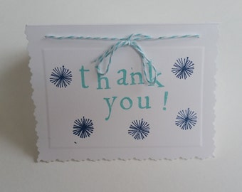 Handmade Thank You notes - pack of 6