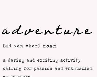adventure definition print