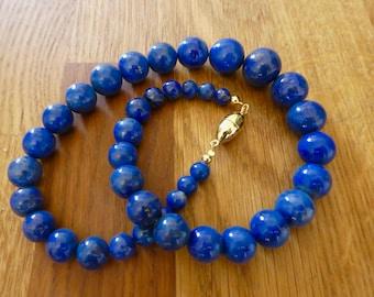 "Lapis lazuli necklace ""blue wonder"""