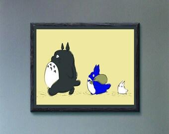 Totoro Digital Print