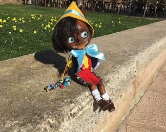 SOLD Ooak custom Pinocchio doll blythe