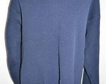 Deadstock NOS Vintage Eddie Bauer Blue Sweater SZ XL Tall