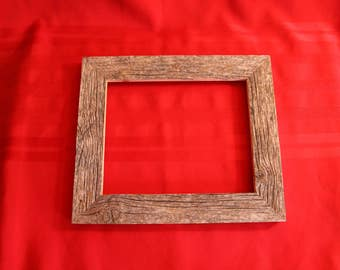 """Handcrafted barn wood 8""""x10"""" picture frame"""