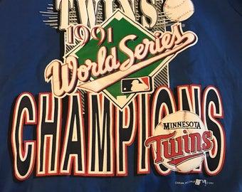 Vintage Minnesota Twins 1991 World Series Champions Crewneck Sweatshirt