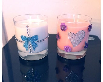 30cl Customized Glass Candle In Various Scents