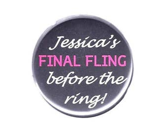 "Final Fling Button 2.25"" Diameter Pinback"