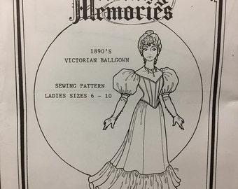 1890's Victorian Ballgown Sewing Pattern