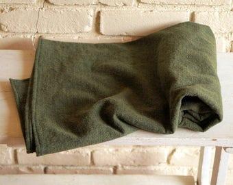 Olive Green Flannel Baby Blanket - Herringbone Flannel Blanket - Receiving Blanket - Nursing Blanket - Baby Boy Shower Gift under 20