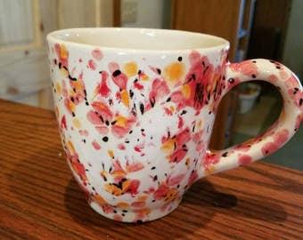Poppy fields mug