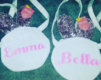 Bunny Purse with Glitter vinyl for Personalization