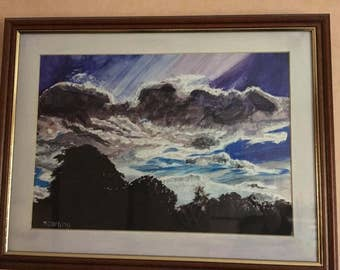 Clouds Watercolour Painting