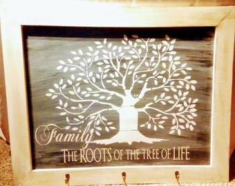 Family are the roots large chalkboard sign