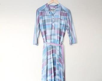 1970s Vintage Sears Striped Summer Dress