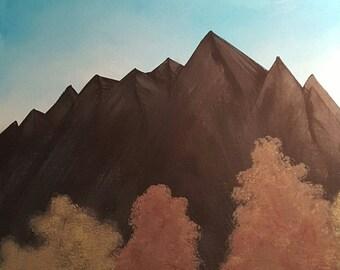 Mountain Air Acrylic Painting