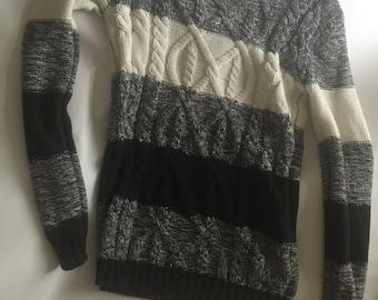 Samantha Black and White Sweater